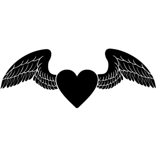 Heart Angel Wings Love Bedroom Living Room Dining Decal Wall Art Sticker Picture