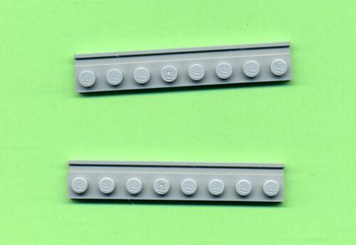 2 pezzi 4510 --- 1 x 8 Grigio//mdstone guida LEGO