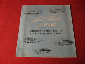 1956 Nash Rambler  Large sales Brochure booklet Catalog Book Old Original