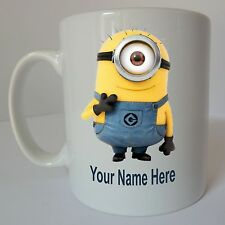 DESPICABLE ME Personalised Minion Mug Birthday Christmas Gift Present Design B