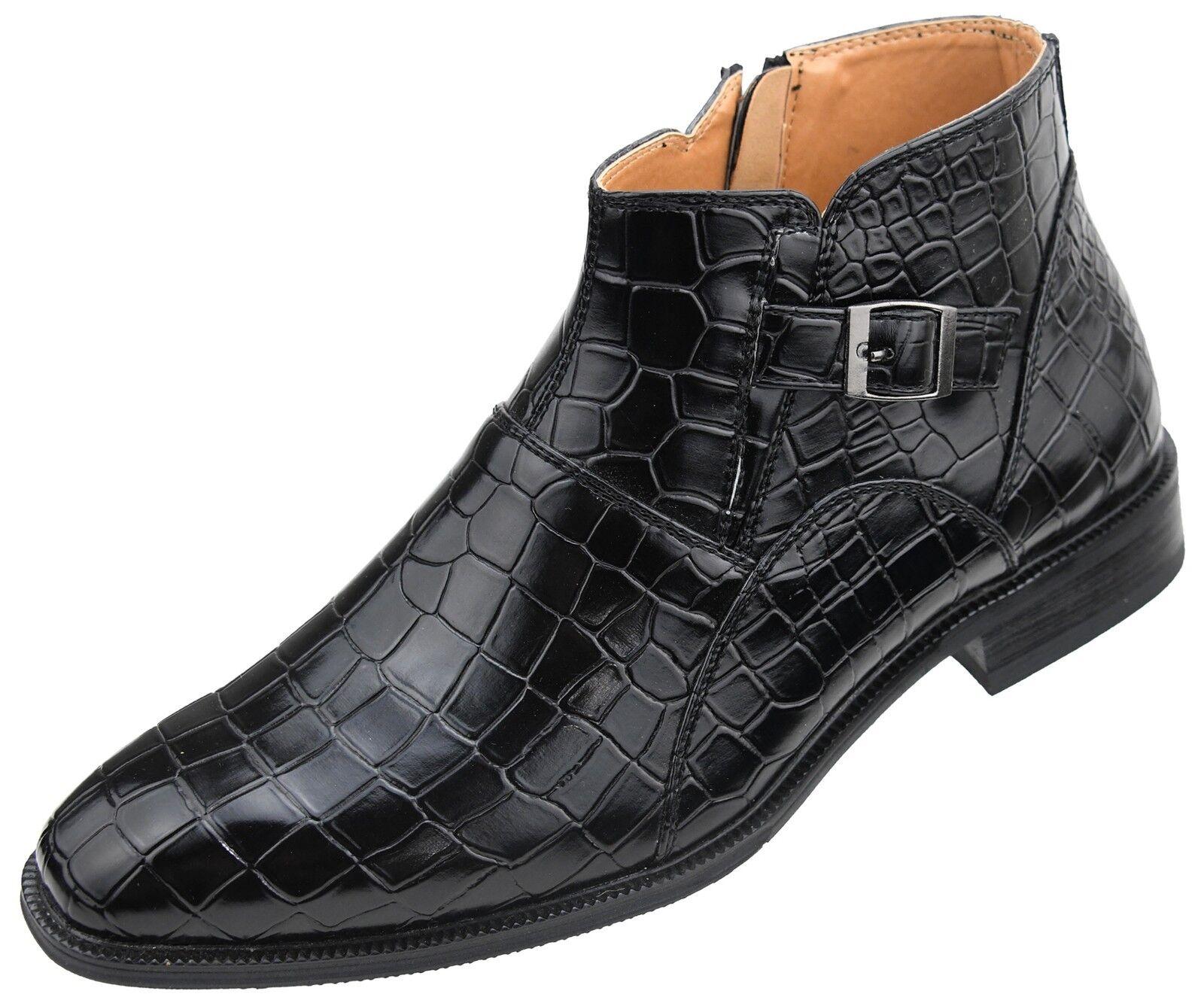 Amali Inside  Uomo Exotic Croco Print Ankle Boot w/ Inside Amali Zipper : Style Lennox 376fbf