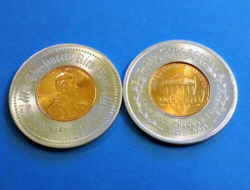 2015 PUERTO RICO promoting ENCASED COLLECTORS INTERNATIONAL Lucky penny Anillado