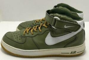 save off c67d4 c98ad Image is loading NIKE-AIR-FORCE-ONE-Olive-Green-Hi-Top-