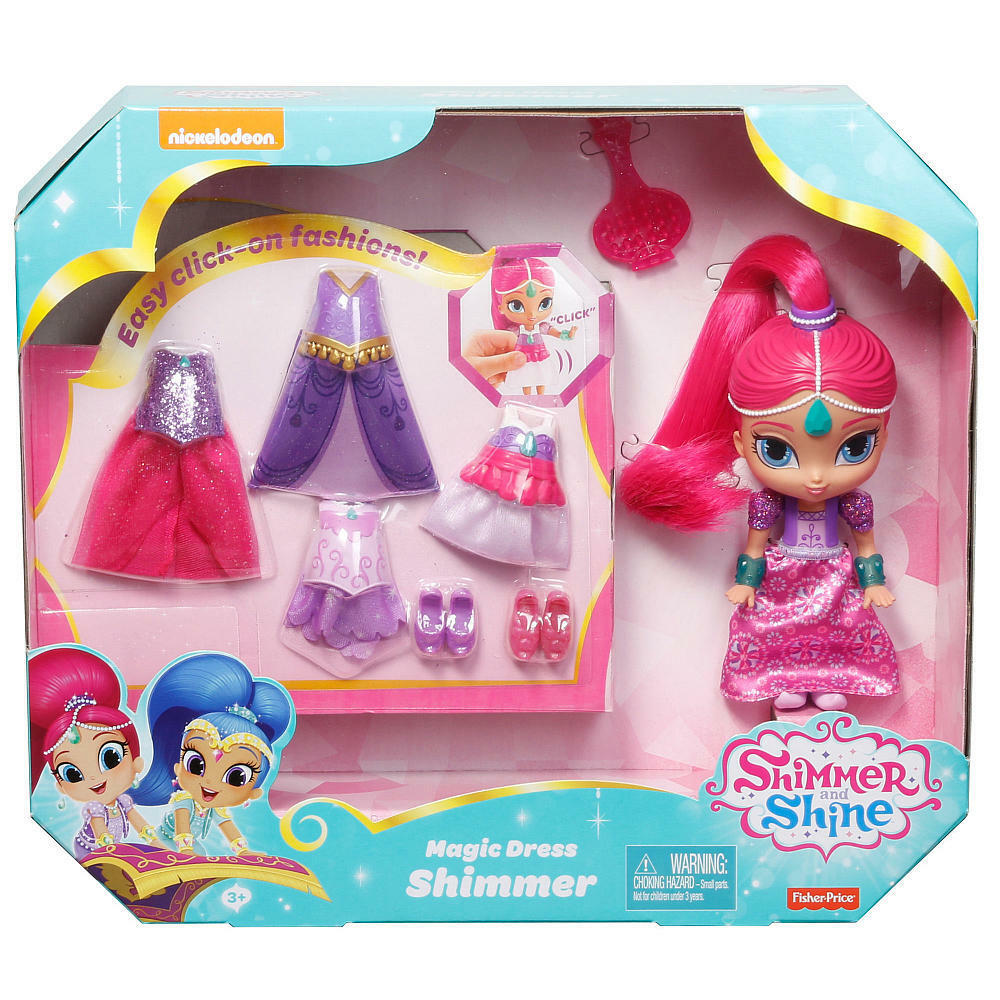 Fisher Price Shimmer och Shine magi Dress Shimmer DGL80  DGL78 NY