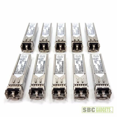 Lot of 10 Cisco DS-SFP-FC4G-SW 4Gbps SFP 850nm Transceiver Modules 10-2195-01