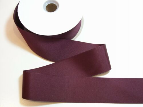 Wide Burgundy Ribbon Offray Maroon Grosgrain Ribbon 2 1//4 inches wide x 20 yds