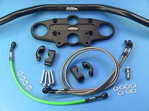 Candide ** Abm Superbike * Guidon Transformation-kit Pour Suzuki Rf 900-r * Noir Anodisé **-afficher Le Titre D'origine