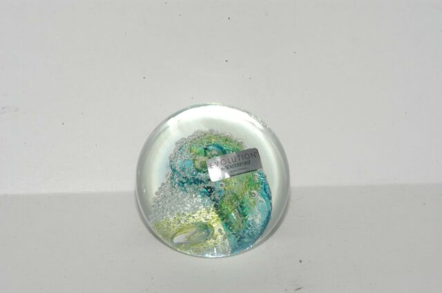 Evolution By Waterford Cosmic Waters Paperweight Ebay