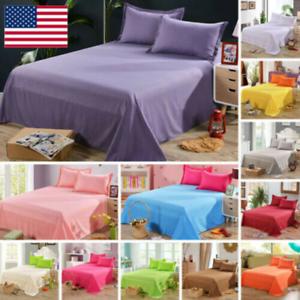 Bedding-Sheet-Bed-Flat-Sheets-Soft-Skin-friendly-Coverlet-Pillowcase-Queen-Size