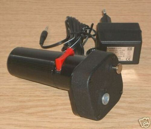 230 Volt mit Netzteil 220 V TGO Grillmotor  Kombigrillmotor 1,5 Volt