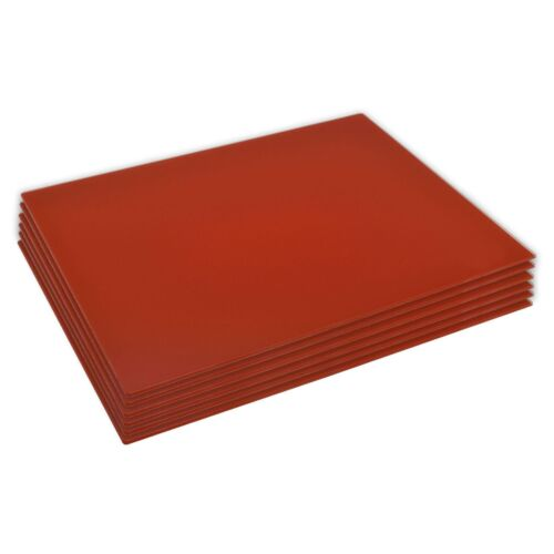 40 x 30 cm 6x Glass Placemats Set Dinner Table Place Mats Red