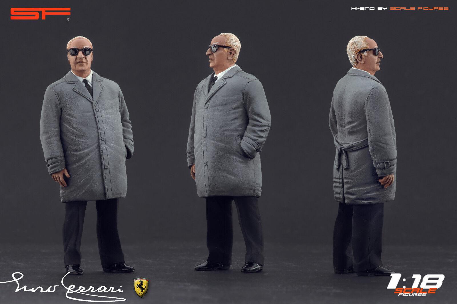 1 18 Enzo Ferrari in grey cloak VERY RARE    figurine NO CARS    for diecast car