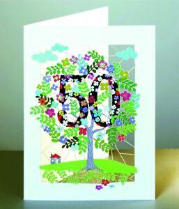 Karte 50 Geburtstag.50 Geburtstag Laser Cut Karte 3d Geburtstagskarte Blumen Lebensbaum