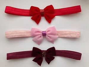Velvet-Bow-Baby-Girl-Headband-Christmas-Glitter-Newborn-Toddler-Headbands-Lot