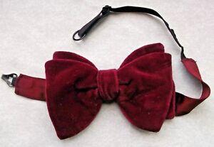 19391653e3dc Image is loading Bow-Tie-Vintage-Velvet-Mens-Bowtie-1960s-1970s-