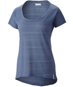 COLUMBIA-WOMENS-SPORTSWEAR-INNER-LUMINOSITY-II-HI-LO-SS-SHIRT-BEACON-BLUE-SMALL