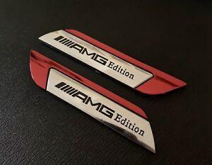 2-X-MERCEDES-Benz-AMG-EDITION-Side-Wing-Fender-Badge-Emblem-New-Uk