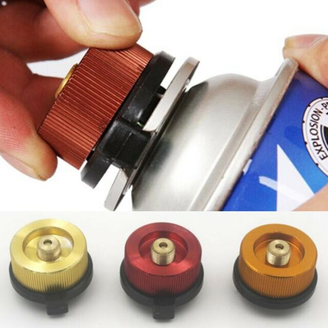 Camping Burner Cartridge Gas Fuel Canister Stove Cans Tank Adapter Converter CG