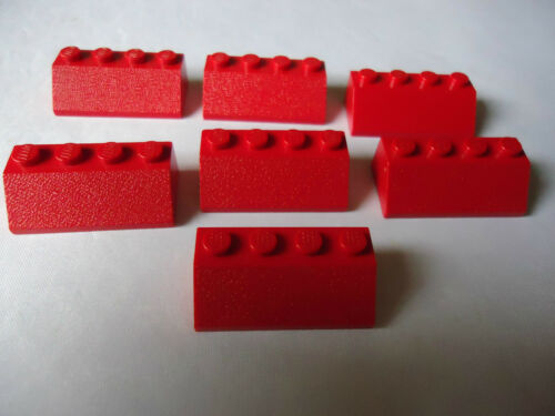 LEGO PART 3037 RED SLOPES x 7 WITH 4 STUDS