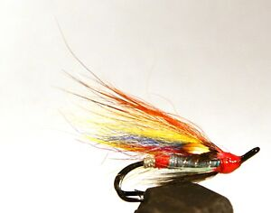 Salmon-Fly-Blue-Doctor-Double-Hook-3-pack-Pick-a-size-Fly-Fishing-Fly