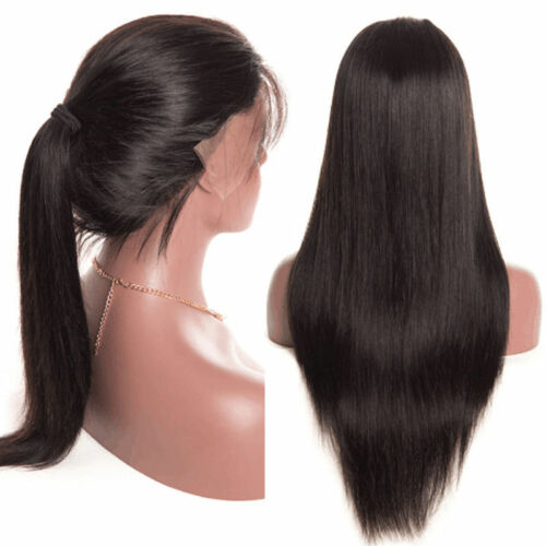Glueless Brazilian Natural Black Wave Full Lace Wigs Front Wig Hair Baby Hair by Unbranded
