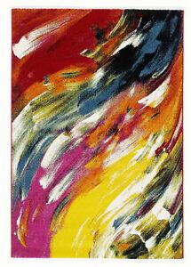 teppich multicolor designer 017 modern art 80x150cm ebay. Black Bedroom Furniture Sets. Home Design Ideas