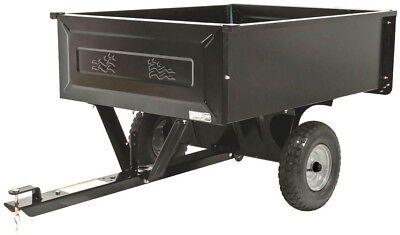 Steel Dump Cart Tractor Trailer Attachment Garden Yard Lawn Sheet Wall 10 cu ft.