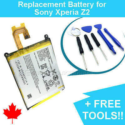 NEW Sony Xperia Z2 Replacement Battery L50W 3200mAh and FREE Repair Tools