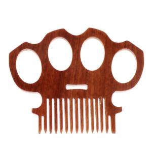 Details About Wooden Beard Comb Brass Knuckles High Gloss Pocket Mustache Comb