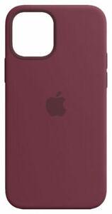 Apple Coque en Silicone avec MagSafe pour iPhone 12/12 Pro - Prune