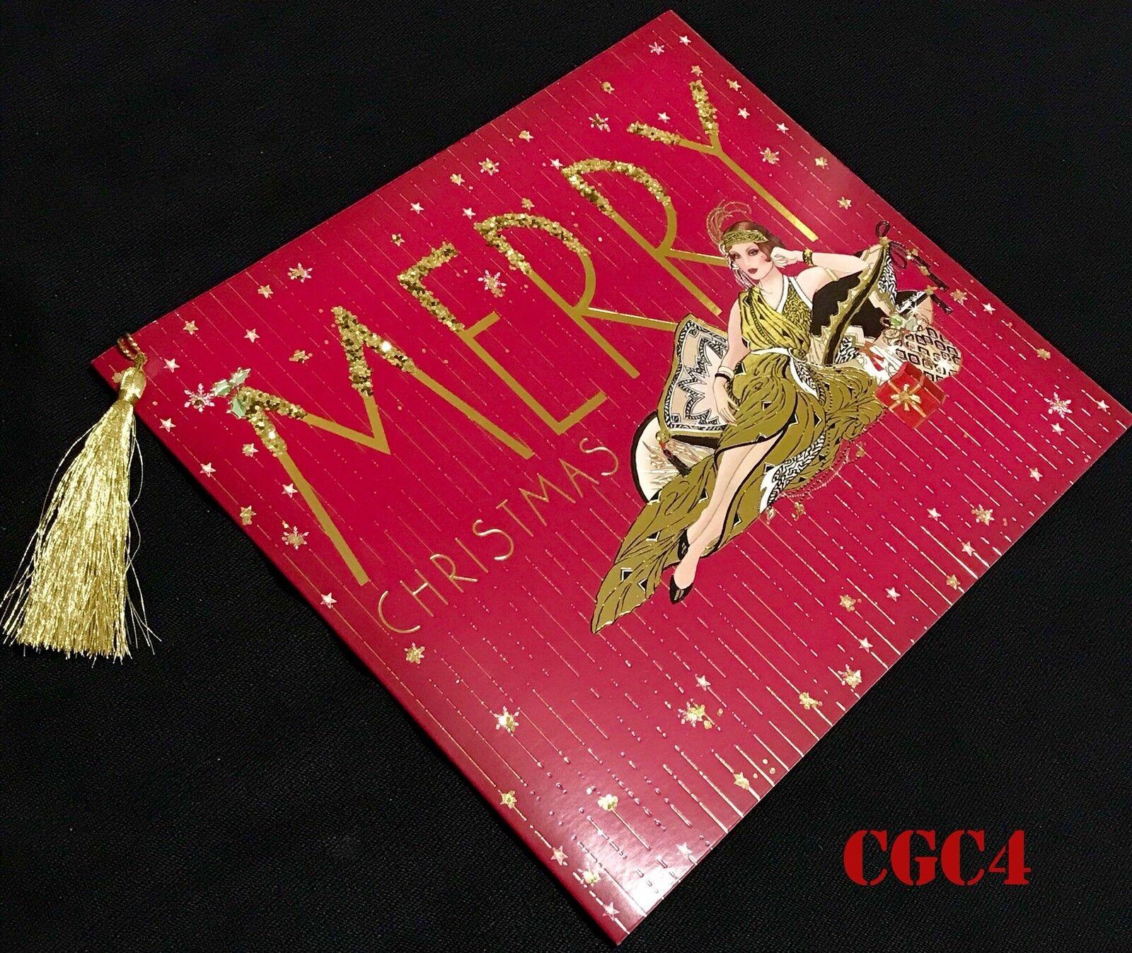 2 * brillo chispeante rango de estilo Art Deco tarjeta de Navidad seasonś greetingś tarjetas 🌲