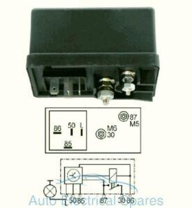160424 12 VOLT GLOW PLUG HEATER TIMER CONTROLLER RELAY 6 TERMINAL ROVER FIAT
