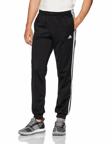 adidas Men/'s Athletics Essential Tricot 3 Stripe Tapered Pants 4 Colors