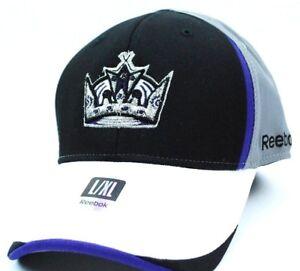 e0f36389438 Los Angeles Kings Reebok TT63Z NHL Pro Shape Flex Fit Hockey Cap Hat ...