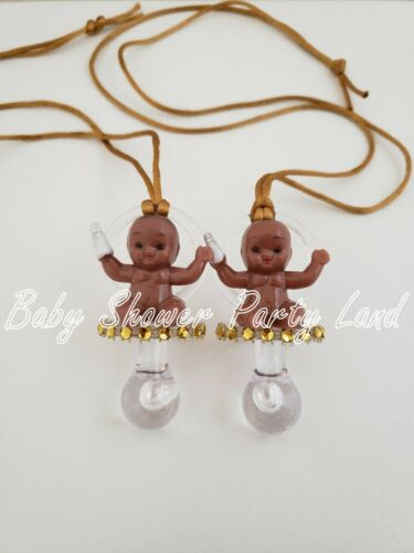 12 Prince Pacifier Necklace Baby Shower Favors Game It/'s a Boy African American