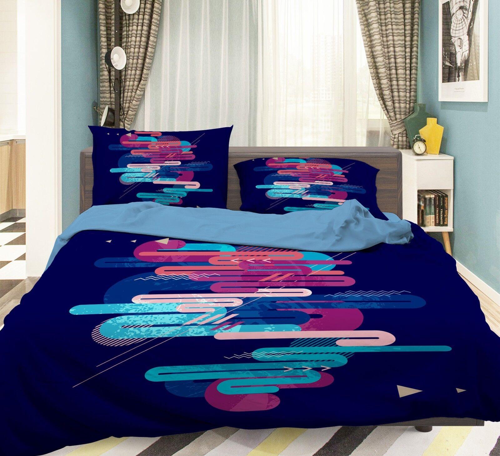 3D Mild Line 325 Bed Pillowcases Quilt Duvet Cover Set Single Queen King Dimensione AU