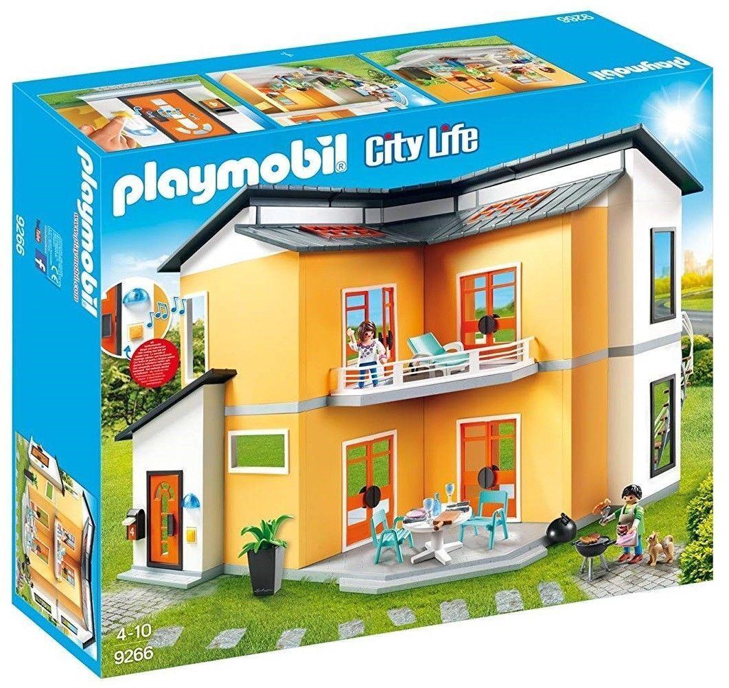 Playmobil City Life Modern House Bulilding Set Kids Play 9266