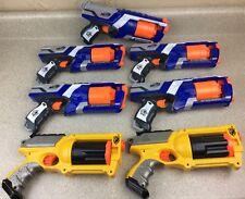 Nurf 7 Gun Lot Party Pack Maverick Rev-6 Strongarm Handgun N-Strike Birthday