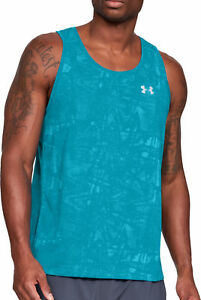 Loyal Under Armour Microthread Streaker Mens Running Singlet Blue Be Shrewd In Money Matters Men's Clothing Sporting Goods
