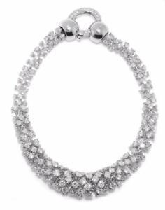 Unique-16-97-Ct-Ladies-Round-Diamond-Foxtail-Sunburst-Tennis-Bracelet-14k-Gold