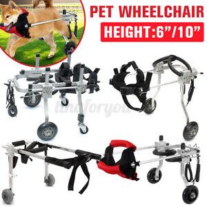 Pet-Dog-Wheelchair-Handicapped-Wheel-Cart-Puppy-Doggie-Walk-Traction-Portable