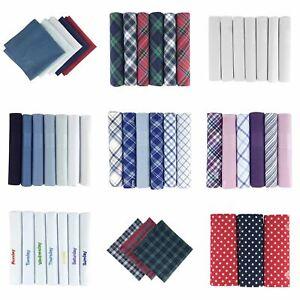 """Men's/messieurs Mouchoirs, Différents Styles Et Couleurs, 100% Coton-ns Handkerchiefs, Various Colours & Styles, 100% Cotton"""" afficher Le Titre D'origine Des Biens De Chaque Description Sont Disp"""