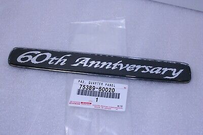 OEM Toyota 50th Anniversary Land Cruiser 100 Prado 90 Quarter Emblem Badge Logo
