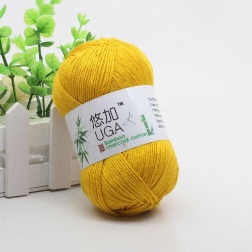 50g Balls Soft Natural Yarn Smooth Bamboo Cotton Crochet Weave hand Knitting lot