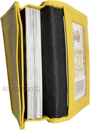 ID//credit card fifty card holder NWT New women men/'s Leather Business card case
