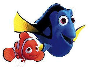 Iron on transfer finding dory nemo clown fish 15x11cm ebay - Doris et nemo ...