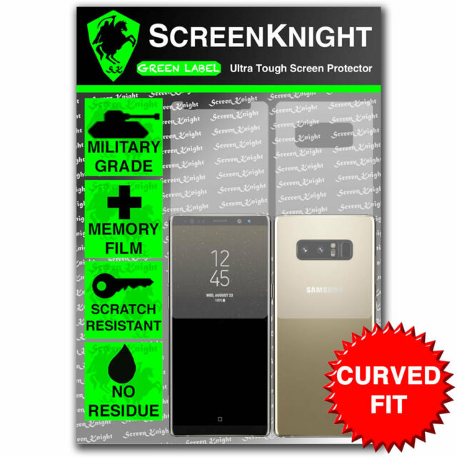 ScreenKnight Samsung Galaxy Note 8 FULL BODY Screen Protector - CURVED FIT