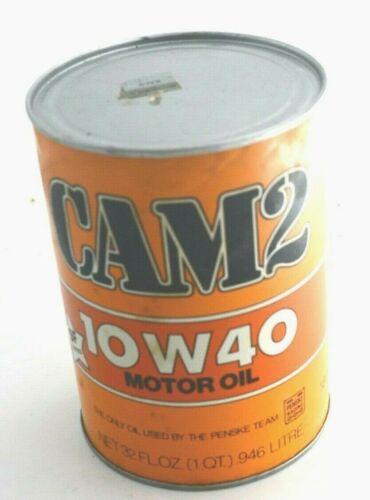 4 CANS of VINTAGE CAM2 10W30 MOTOR OIL SUNOCO PENSKE SEALED FULL QUART