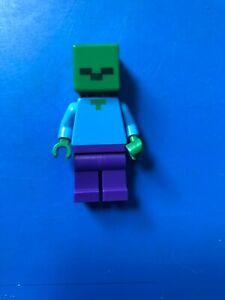 Genuine Lego Minecraft Zombie Mini Figure