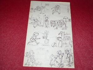 Bd-Dessin-Humoristico-Prensa-Metal-Lamina-Original-Bd-034-Farmacia-034-1960-50x33